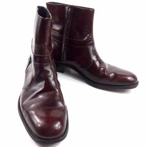 Vtg Florsheim Imperial Red Patent Leather Boots 12